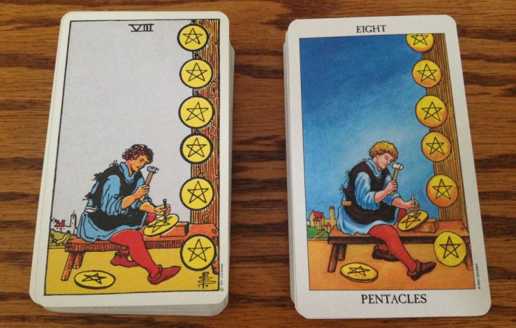 05 Eight of Pentacles Comparison