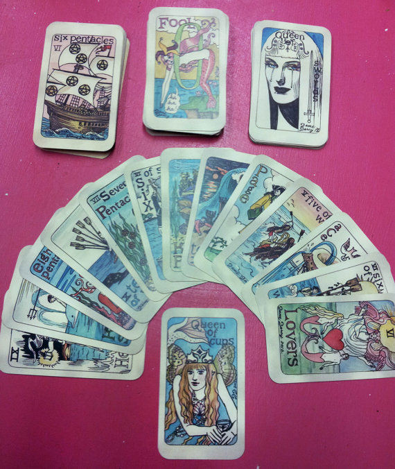 Image Credit: Dame Darcy's Etsy Page. Mermaid Tarot deck for fortune telling. $35 USD.