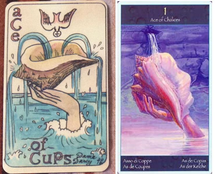 Dame Darcy v Mermaid Tarot - Ace of Cups