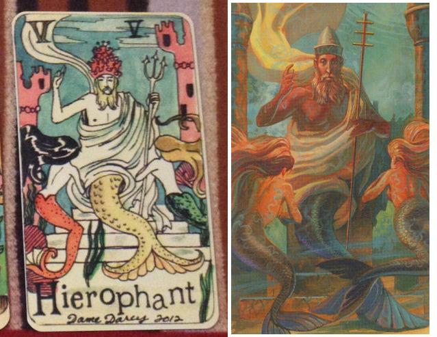 Dame Darcy v Mermaid Tarot - Hierophant