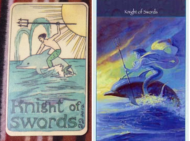 Dame Darcy v Mermaid Tarot - Knight of Swords
