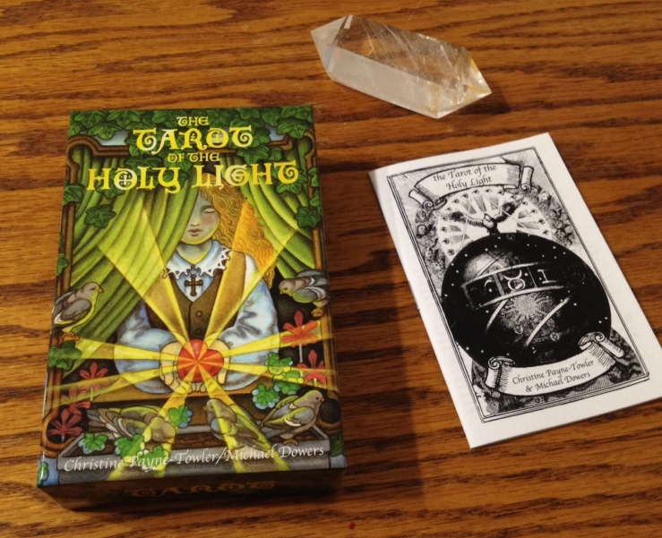 The Tarot of the Holy Light, with its little white booklet