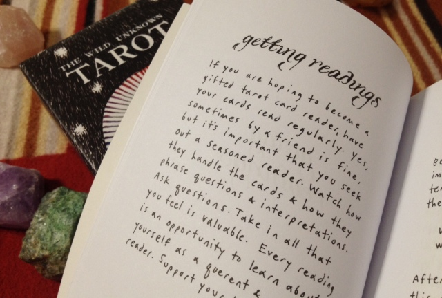 """I love this note: """"If you are hoping to become a gifted tarot reader, have your cards read regularly."""""""