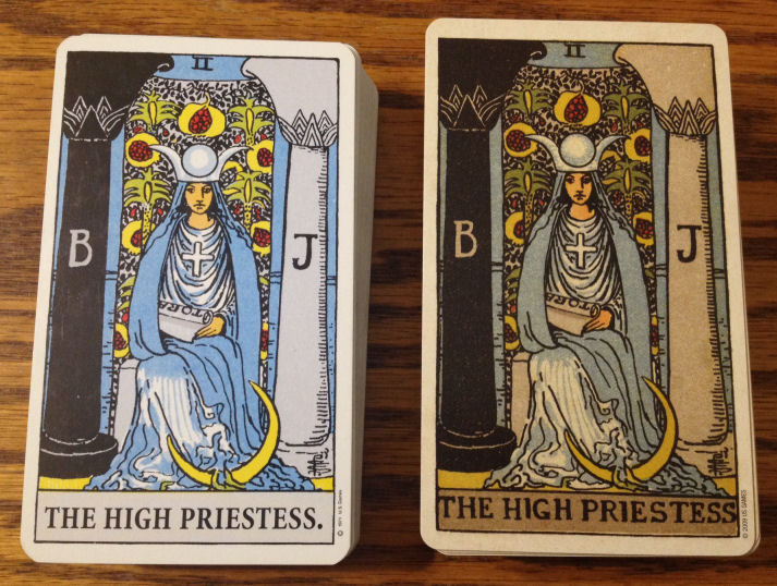 compare - The High Priestess front