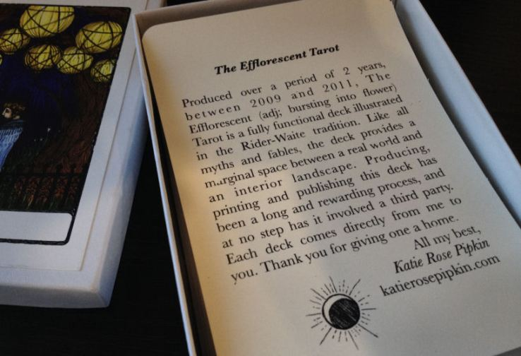 Efflorescent Tarot Review 02 Only Explanation Card
