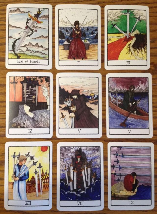 Efflorescent Tarot Review 16 Minors Swords