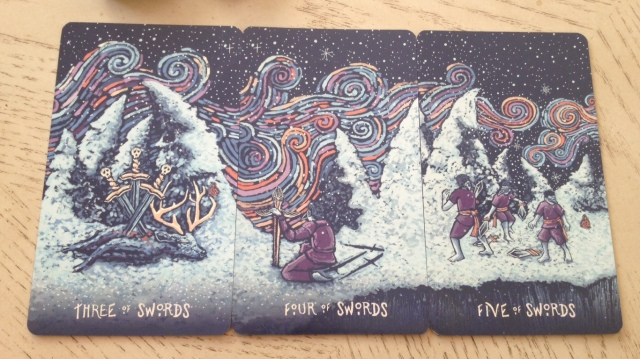 14 Prisma Visions Tarot - Swords Pips