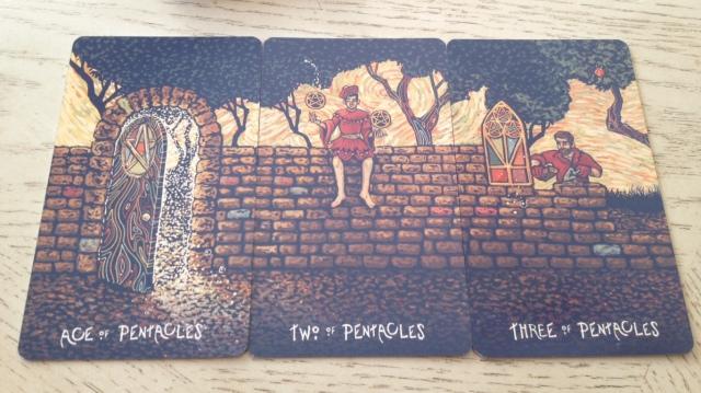 16 Prisma Visions Tarot - Pentacles Pips