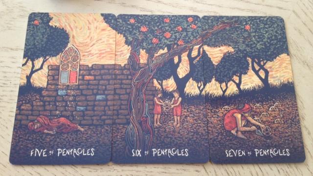 17 Prisma Visions Tarot - Pentacles Pips II