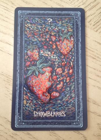 19 Prisma Visions Tarot - Strawberries Card