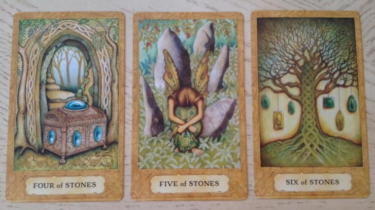 Chrysalis Tarot 12 Stones (Pentacles) 456