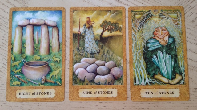 Chrysalis Tarot 13 Stones (Pentacles) 8 9 10