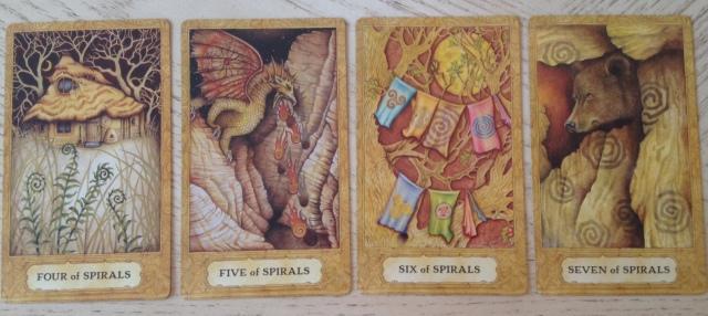 Chrysalis Tarot 17 Spirals (Wands) 4567