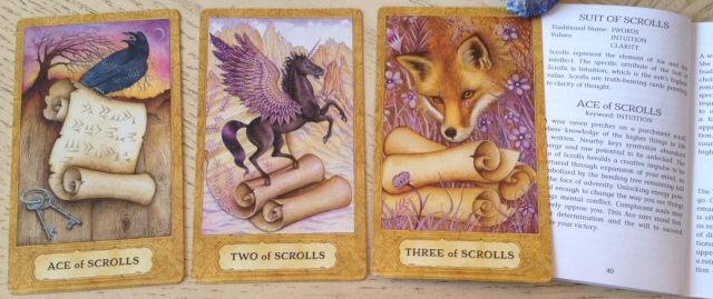 Chrysalis Tarot 18 Scrolls (Swords) 123