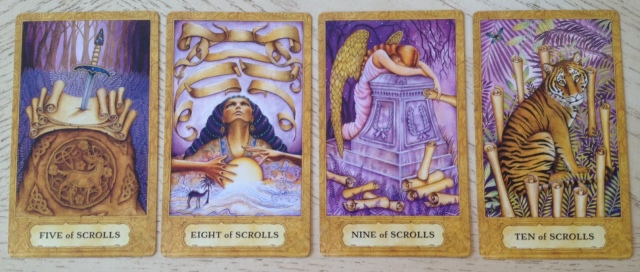 Chrysalis Tarot 19 Scrolls (Swords) 5 8 9 10