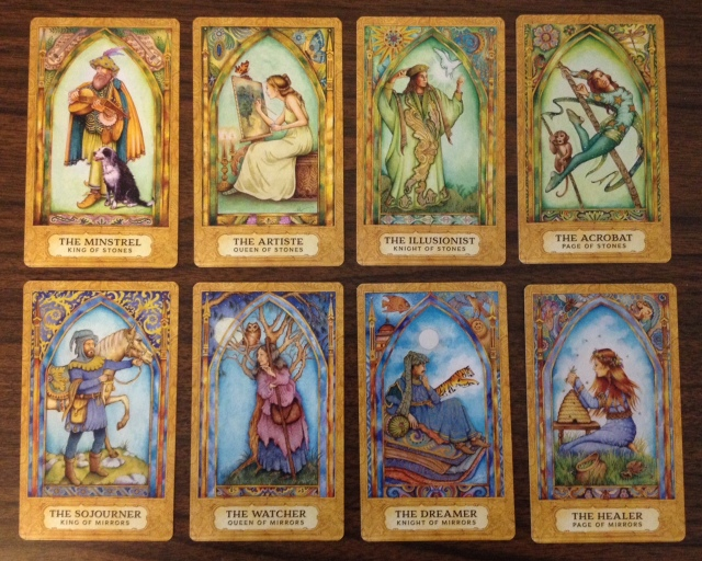 Chrysalis Tarot 20 Courts for Stones and Mirrors