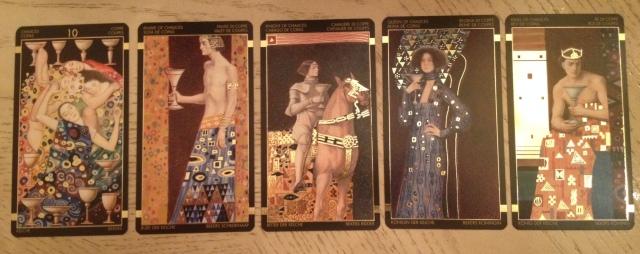 Klimt Tarot 11 Chalices