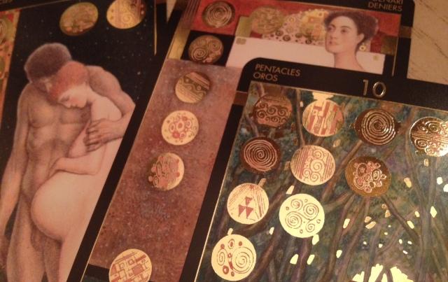 Klimt Tarot 13 Pentacles