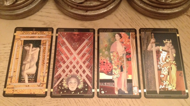 Klimt Tarot 17 Swords