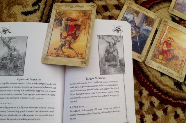 LlewellynTarot_Reading_CardandBook_1KingofPents