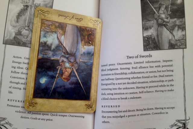 LlewellynTarot_Reading_CardandBook_2TwoSwords