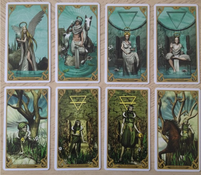 Night Sun Tarot 09 Courts 2 Cups and Coins