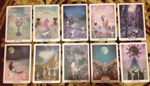 Starchild Tarot Minors - Suit of Cups (Pips Only)