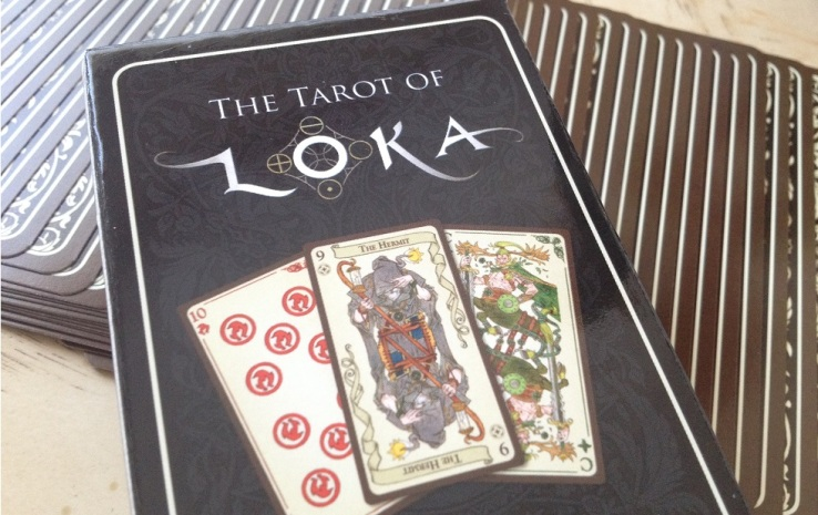 Tarot Loka 12 Box and Fanned Cards