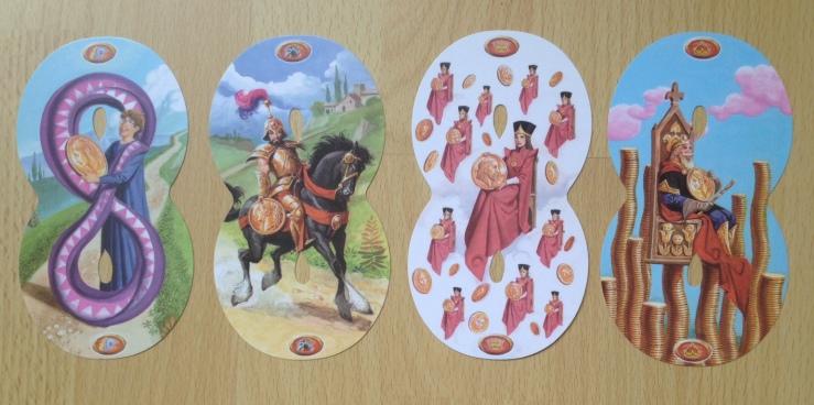 Infinity Tarot - Minors Pentacles Courts