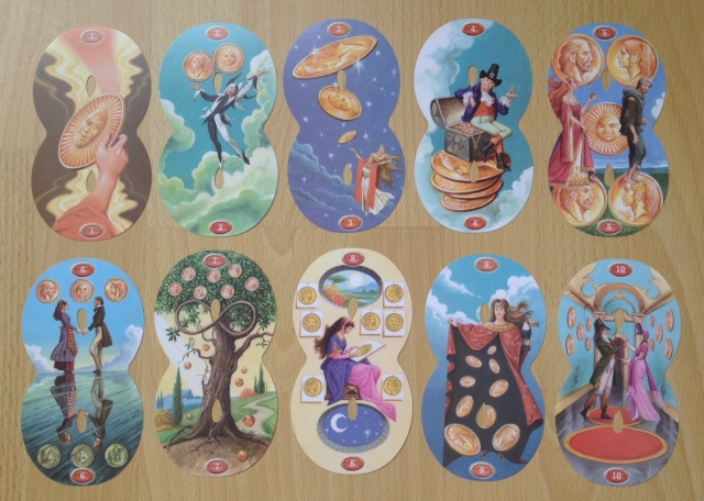 Infinity Tarot - Minors Pentacles Pips