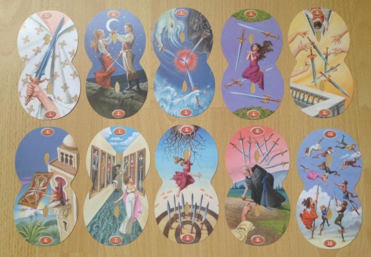 Infinity Tarot - Minors Swords Pips