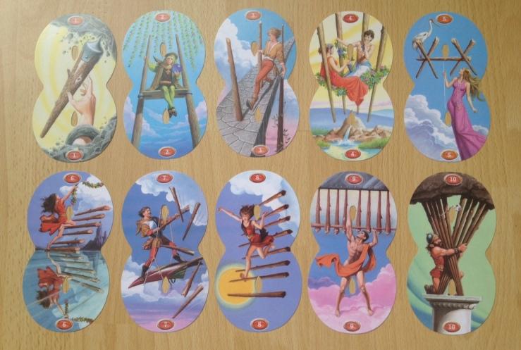 Infinity Tarot - Minors Wands Pips