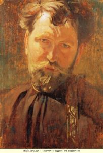 Self Portrait of Alphonse Mucha. Image Source: abcgallery.com