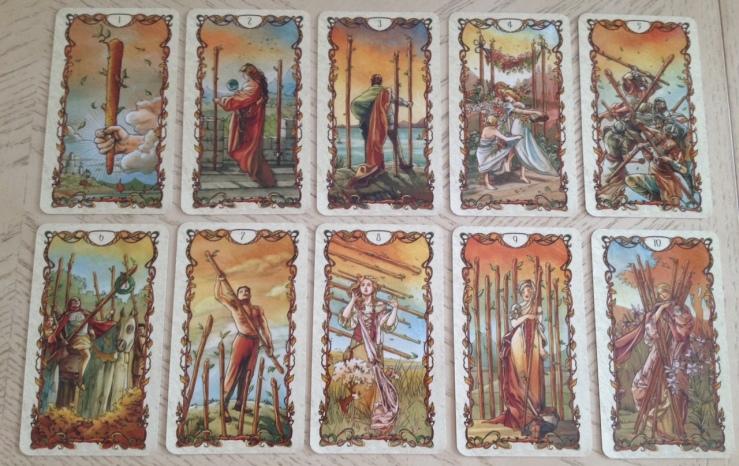 Tarot Mucha 09 Minors Wands