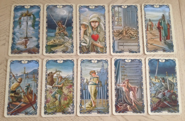 Tarot Mucha 10 Minors Swords