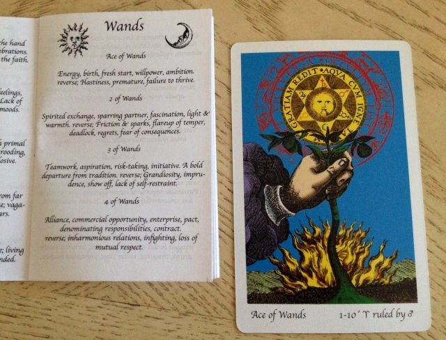 Tarot of the Holy Light, Ace of Wands and the original LWB