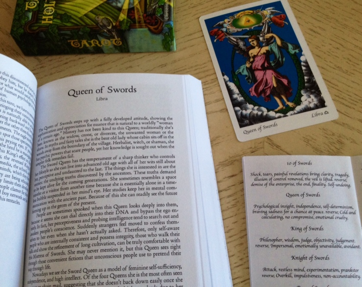 THL - Queen of Swords - Book LWB Card