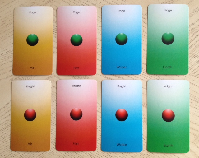 Orbifold Tarot - 13 Courts 1 Page and Knight