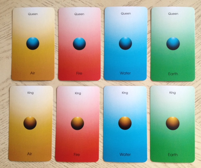 Orbifold Tarot - 13 Courts 2 Queen and King