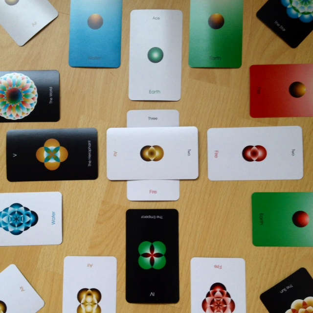 Orbifold Tarot - Mandala Reading 2 Cross
