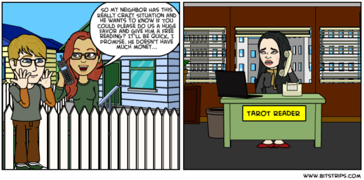 Bitstrips - Neighbor Wants a reading