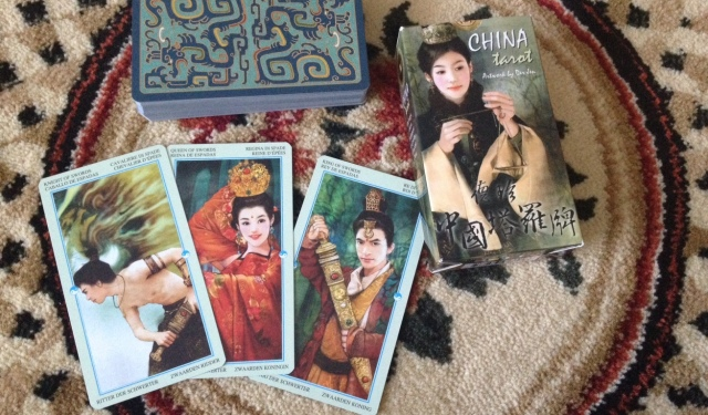 China Tarot - Box Deck and Card Fan