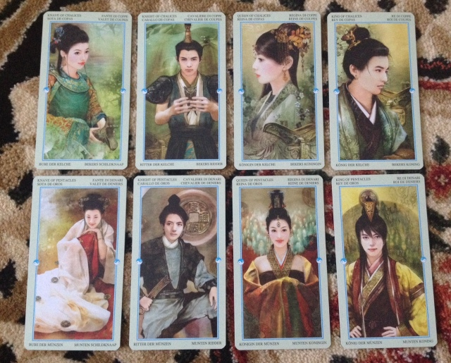 China Tarot - Courts - Chalices and Pentacles