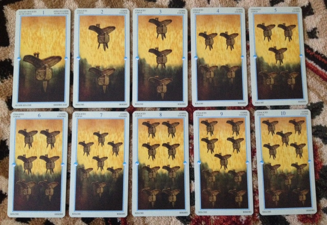 China Tarot - Minors - Chalices (Cups)