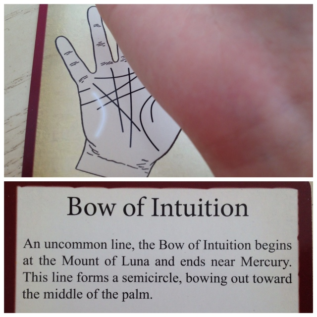 Palmistry Cards - Bow of Intuition