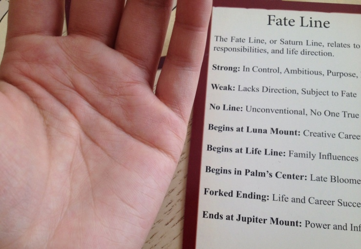 Palmistry Cards - Fate Line 1