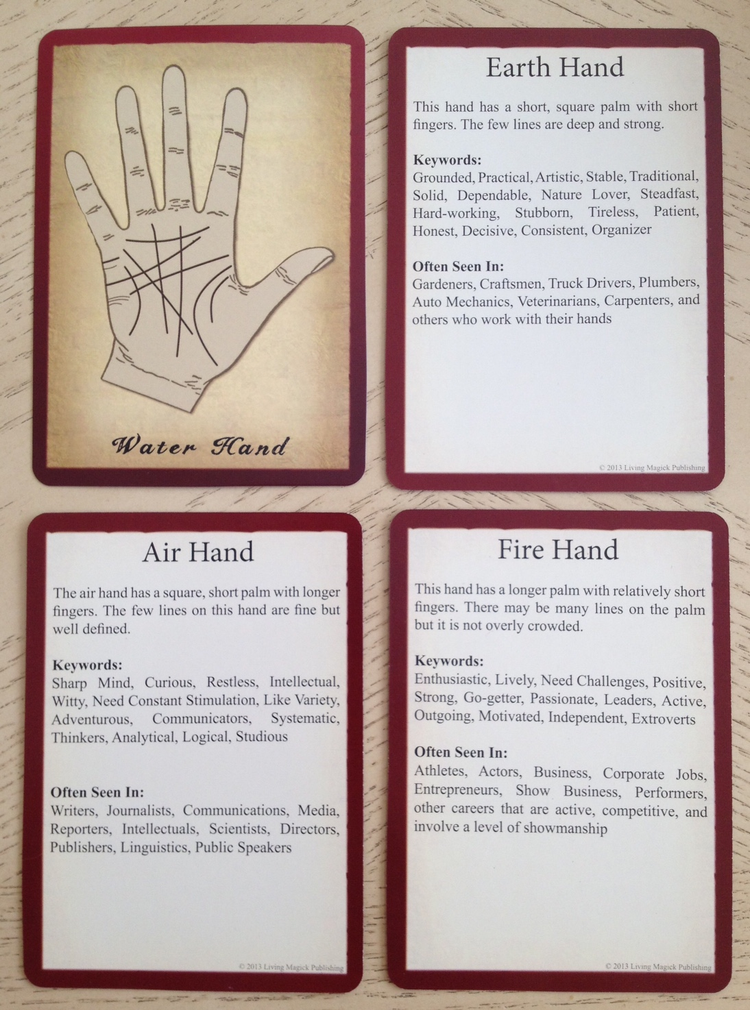 Living Magick Learning Cards Series: Palmistry Learning Cards ...