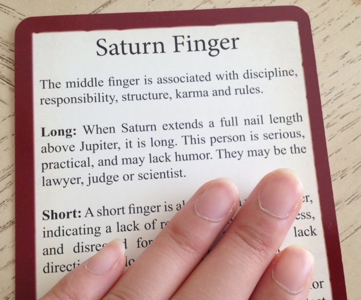 Palmistry Cards - Saturn Finger