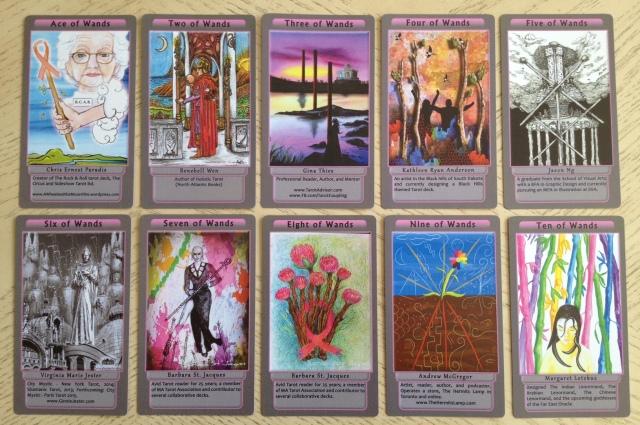 Tarot Pink 12 Wands