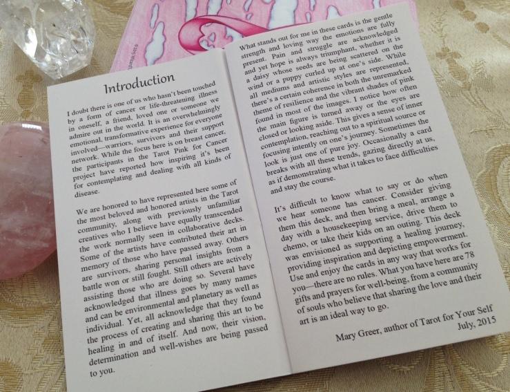 Tarot Pink 18 LWB Mary Greer Intro